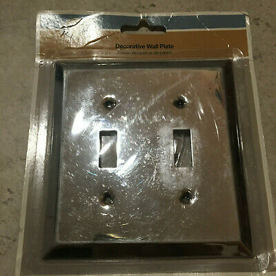 Hampton Bay 2 Gang Toggle Chrome Light Switch Cover Plate New 5 49 Picclick Uk