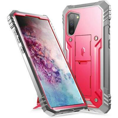 Galaxy Note 10 2019 Case,Poetic® Dual Layer Shockproof Kick-stand Cover Pink