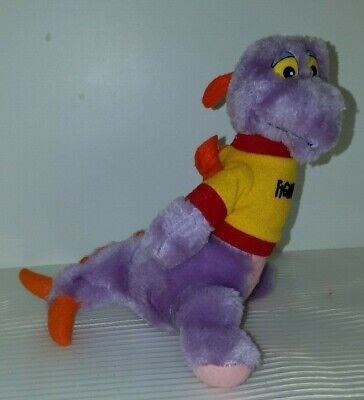 "Figment Imagination Disney World Plush Stuffed Animal Purple Dragon 8"" EUC"