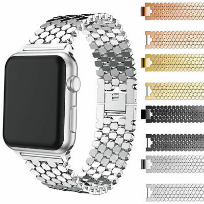 for Apple Watch Bands 42mm 38mm Stainless Steel iWatch Bands Series 5 4 3 2 1 US