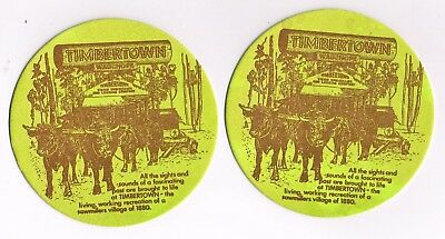 2 x Timbertown Drink Coasters 1970/80s era