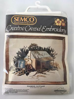 Semco Creative Crewel Embroidery, Pioneer Cottage #1237