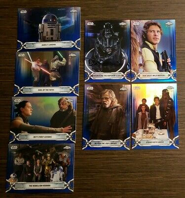 2019 Topps Star Wars Chrome Legacy Blue Refractor Parallels #/99 -Pick your Card