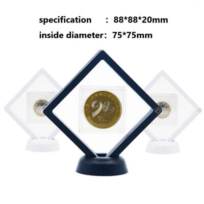 Decorative Accessories 3D Floating Coin Display Frame Holder Box Case With Stand