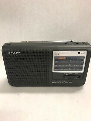 Vintage Radio Sony ICF-36 Weather TV Am Fm 4 band portable battery