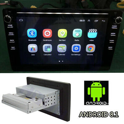 "9"" Android 8.1 Auto 1 Din Stereo Radio Player GPS Wifi 1GB+16GB Quad-Core 12V 1x"