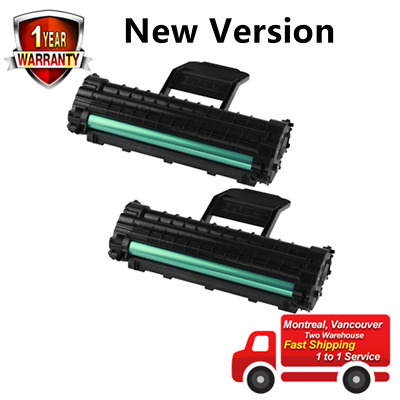 2PK Black toner cartridge for Samsung MLT-D108S ML-1640 ML-2240, New Version!