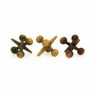 IMAX 3.5H in. Jack's Cast Iron Jacks - Set of 3, Multicolor