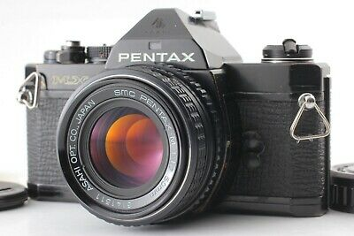 【Exc+4】 Pentax MX Black SLR 35mm Film Camera w/SMC M 50mm f/1.7 Lens from JAPAN
