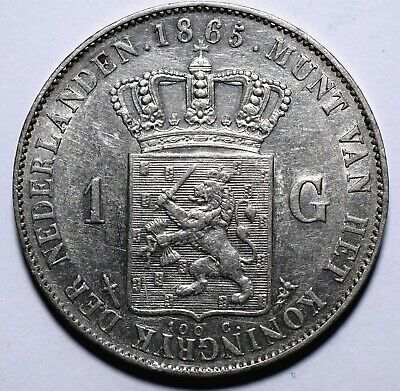 1865 Netherlands One 1 Gulden - Willem III - Lot 154