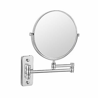 """8"""" Wall Mount Bathroom Shaving Makeup Mirror Cosmetic 10X Magnification Chrome"""
