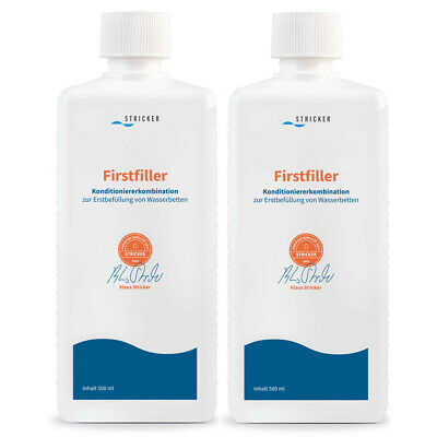 Wasserbett Conditioner Stricker Firstfiller Erstbefüllung Konditionierer 2x 0,5l