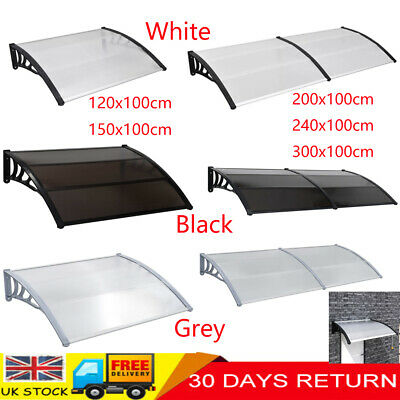 Garden Door Window Canopy Awning Sun Rain Shelter Roof Cover Outdoor Patio Front