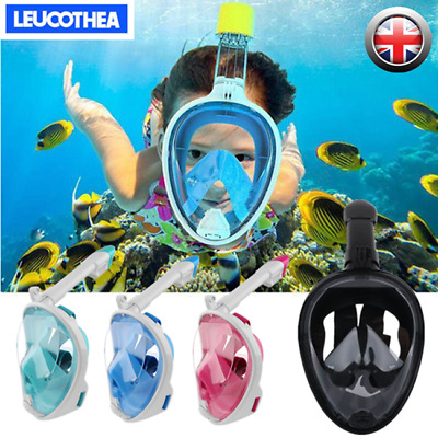 2019 Kids Anti Fog Full Face Snorkel Mask Swimming Dive Scuba Goggles For GoPro