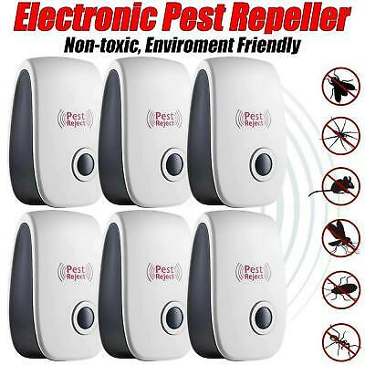 6 Pack Ultrasonic Pest Repeller Control Electronic Repellent Mice Rat Reject