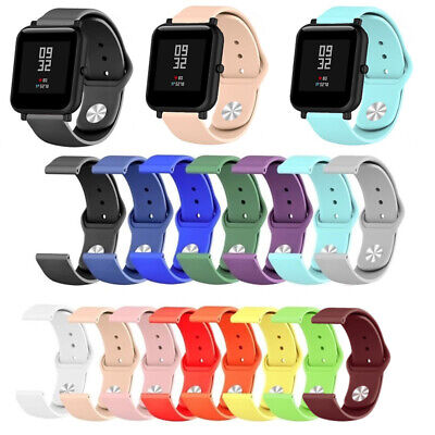 Replacement Silicone Smart Watch Bands Strap For Xiaomi Huami Amazfit Bip Youth