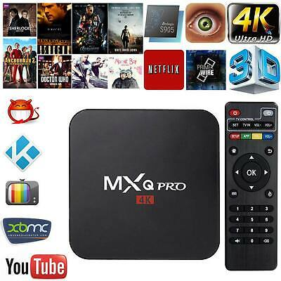 MXQ Pro 4K Ultra HD 3D android 7.1 Quad core 64 Bit 4+32GB WIFI 4k media stream