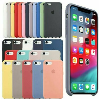 Original Coque Silicone Case Apple iPhone 6 7 8 Plus X XR XS MAX Etui Coffret Fr