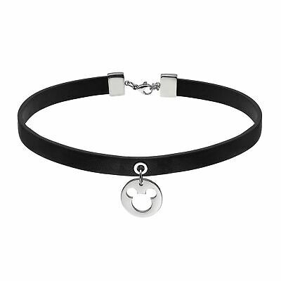 Disney Official Mickey Mouse Leather Silhouette Collar Jewelry Women Necklace