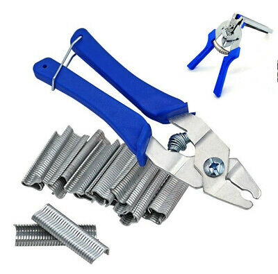 PROFESSIONAL HOG RING PLIERS TOOL UPHOLSTERY CAR TRIM FENCING CAGE REPAIRS