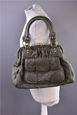 Born In San Francisco Fashion Ladies Green Faux Leather Handbag 5 Compartments