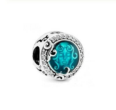 925 Sterling Silver Bead Haunted Mansion Madame Leota CHARM Blue