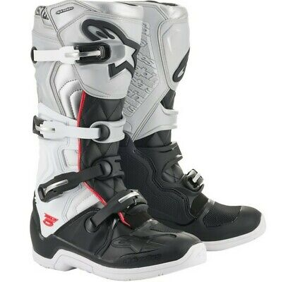 2020 Alpinestars Tech 5 Victory Offroad Motocross Boots Black White Silver Adult