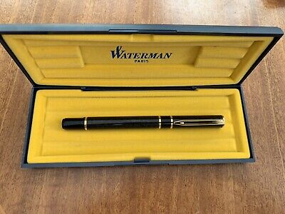 Waterman France Fountain Pen *  Marble and Gold Nib * Great Condition