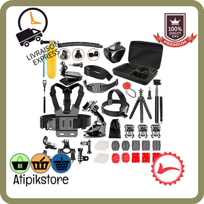 Kit de 50 Accessoires GoPro Hero 7 Black 6 Session 5 4 3+ 3 2 1 Camera Sport
