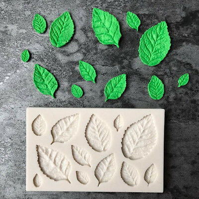 Leaf Shaped Silicone Mold Leaves Cake Decor Fondant Cookies Moulds Baking ToolPB