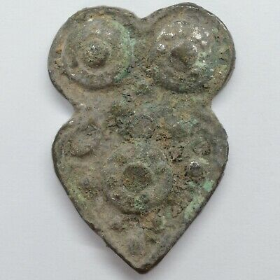 Bronze Owl 30mm. Solar sign / Proto Coin 1100-600BC. Scythian Koban