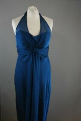 "BNWT Debut Ladies Blue Prom Dress UK 12 EU 40 RRP £90 Bust 32"" Length 48"" Party"