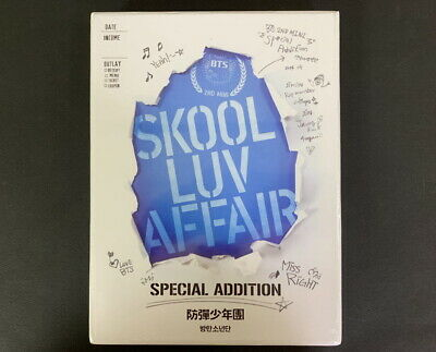 SEALED BTS-Skool Luv Affair SPECIAL ADDITION CD+DVD+PHOTO CARD RARE PROMO COPY