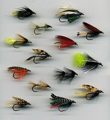 Trout Flies BARBLESS Adult Mayflies x 9 all size 10 . Code 494