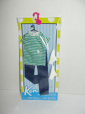 Ken Doll Fashionista Outfit Clothes Striped Shirt Jeans Sneakers Shoes
