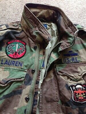 Jacket Polo Xl Lauren Army Field M65 Military Combat Ralph Soldier AjL54R3q