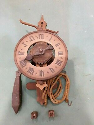 Antique Watch a Weights, Brand Botle , Fully Wooden