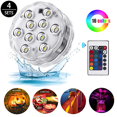 Hot Tub Accessories,Submersible Led Lights with IR Remote Controlled 10-LED RGB