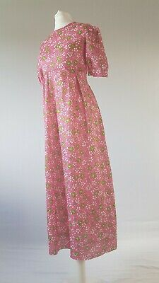 Vintage 60s Dress Girl's Bridesmaid 9yrs 10yrs Party Floral Psychedelic Sixties