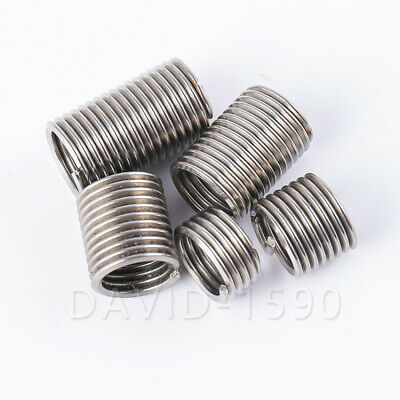 10pc M6x1x2D 12mm Length Helicoil Wire Thread Insert 304 Stainless Steel