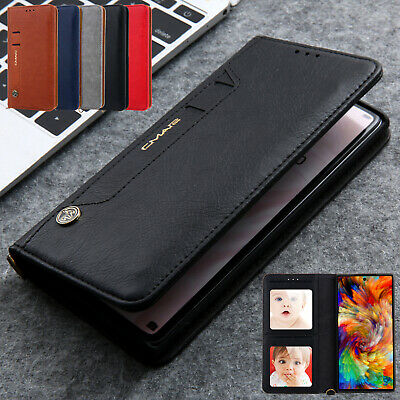 For Samsung Galaxy Note10/10 Plus Magnetic Leather Card Pocket Wallet Case Cover