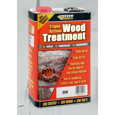 Everbuild Triple Action Wood Treatment Preserver Dry & Wet Rot Decay 5 Litre