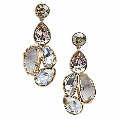5d3dcc8eb2289 NIB $299 ATELIER Swarovski Nevola Detachable Earrings Golden Crystal 5229431