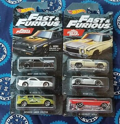 2019 Hot Wheels Fast and Furious Walmart Exclusive Set of 6 Cars  FREE SHIPPING