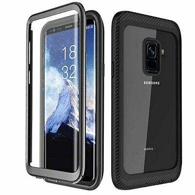 For Samsung Galaxy S10 S9 S8 Plus Slim Shockproof Case Cover Built-in Screen
