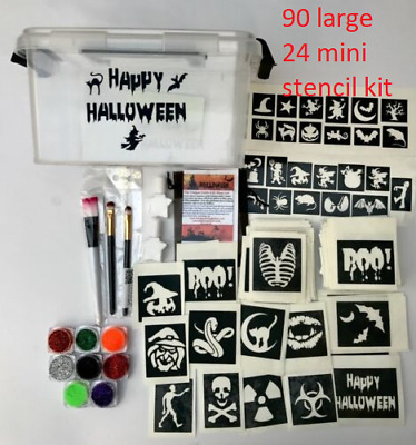HALLOWEEN  GLITTER TATTOO KITS  all sizes YOU choose from the drop down menu