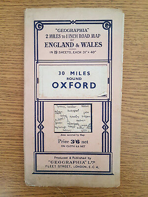 Geographia 2 Miles To 1 Inch Road Map Of England & Wales