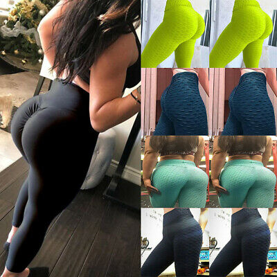 High Waist Fitness Leggings Women Gym Workout Push Up Trousers Solid Yoga Pants