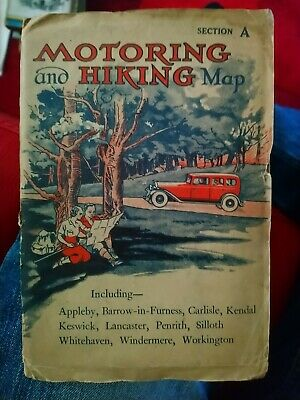 Motoring And Hiking Map Section A vintage
