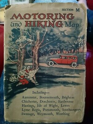Motoring And Hiking Map Section M vintage
